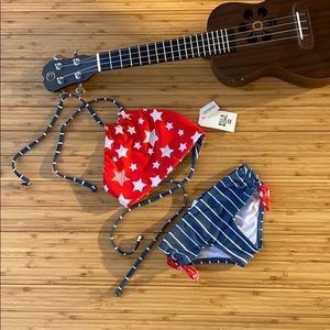 🔶BILLABONG- Red white blue 4 of July KIDS bikini